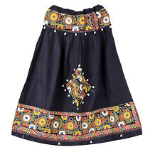 Hippie Embroidered Vintage Banjara Women Skater Long Skirt Indian Retro Skirts