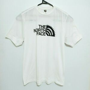 The North Face Mens Shirt Size M White Short Sleeve Big Logo Crew Neck Tee