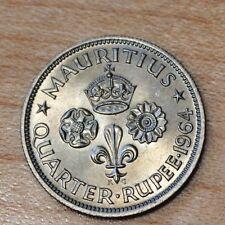1964 Mauritius 1/4 Rupee
