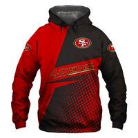 San Francisco 49ers Hoodie Football Hooded Sweatshirt Sports Jacket Fans Gift