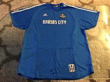 MLS Kansas City Wizards Blue Soccer Jersey Adult Extra Large XL Adidas