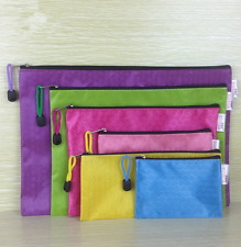 Diverse Waterproof Office School Stationery File Bags Zipper Canvas Pencil Bag