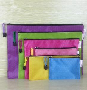 Diverse Waterproof Office School Stationery File Bags Zipper Canvas Pencil Bag
