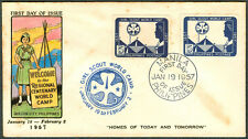 1957 Philippines GIRL SCOUT REGIONAL CENTENARY WORLD CAMP First Day Cover - A