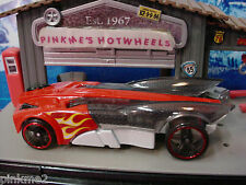 2014 DOUBLE JUMP DUEL Multi Design BUZZ BOMB✿Red/White✿LOOSE✿Hot Wheels Race