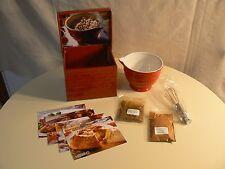 Gourmet Village RED WHISK & BOWL SET Whisk 4 Recipes Dip Mix & Seasonings Packet