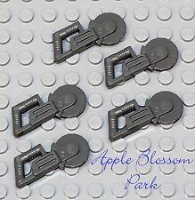 NEW Lego Lot/5 Minifig Gray CIRCULAR SAWS Minifigure Blade Hand Tool Weapon Set