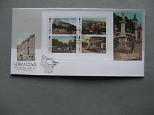 GIBRALTAR, cover FDC 2013, S/S views on PPC's