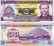 HONDURAS 2 Lempiras Banknote World Paper Money UNC Currency Pick p80Ae Note Bill