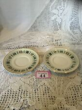 """Pair Of Small 5"""" Saucers Royal Doulton Tapestry"""