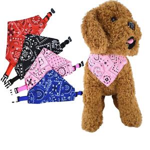 Dog Bandana Neck Scarf Collar, Pet Puppy, UK, Boy Girl, Small Medium Large S M L