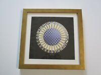PAPER SCULPTURE GOLDEN YEAR MANDALA 1982 MODERNISM POP ART ABSTRACT WALL ART OP