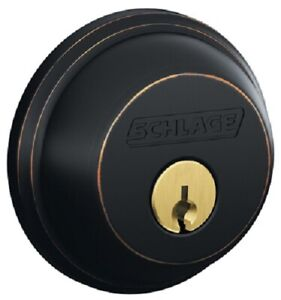 Schlage, Aged Bronze, Single Cylinder Deadbolt, B60N716
