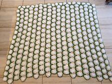 VTG Crochet Afghan Knit Throw Blanket
