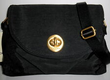 BAGGALLINI Gold Nassau Crossbody Bag *NEW* Black Nylon Organizer Adj Strap NWT