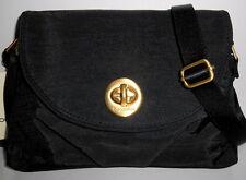 BAGGALLINI Gold Nassau Crossbody Bag *NEW* Black Nylon Organizer Adj Strap NWT