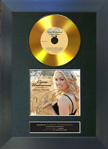 GOLD DISC CARRIE UNDERWOOD Some Hearts Signed Autograph Mounted Print A4 185