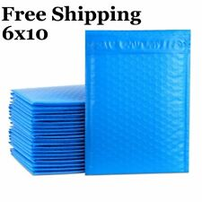 1 500 0 6x10 Poly Blue Color Bubble Padded Mailers Fast Shipping