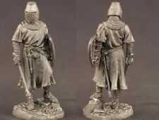 tin toy soldiers unpainted  54mm Knight of Outremer XIII century