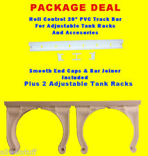 "Roll Control PVC 20"" Track Bar w/ 2 Adjustable Scuba Tank Racks dive rack holder"
