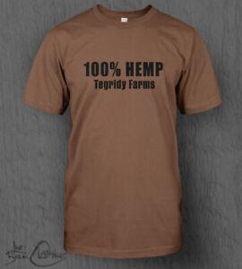 Tegridy Farms T-Shirt MEN'S South Park 100% Hemp 420 Weed Cartman Cannabis Top