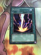Raigeki lob-e042 Unltd Ed **OG MAGIC CARD** (VG) Super Rare Yu-Gi-Oh! PLAYED