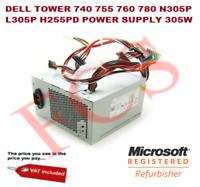 GENUINE PSU DELL TOWER 740 755 760 780 N305P L305P H255PD POWER SUPPLY 305W DELL