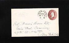 Embossed Rev W Winslow Egpytian Archaeology Boston 1885 TOB 2c PSE Cover 7t