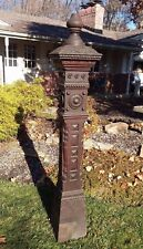 EXCEPTIONAL ANTIQUE 6 FOOT OAK NEWEL POST COLUMN PILLAR ARCHITECTURAL SALVAGE