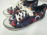 Coach Barrett Womens Shoes Tennis Sneakers Size 7.5 B Canvas Leather