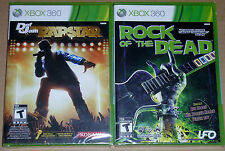 XBox 360 Game Lot - Def Jam Rap Star (New) Rock of the Dead (New)