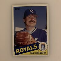 "1985 Topps Big Dan Quisenberry # 8 Kansas City Royals Baseball Card # 5"" x 7"""