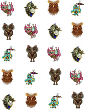 Steampunk Owls  Waterslide Nail Decals/Nail Art