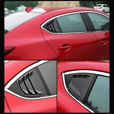 For Mazda3 4D 2014-2018 Carbon fiber Style Quarter Panel Window Side Louver Trim