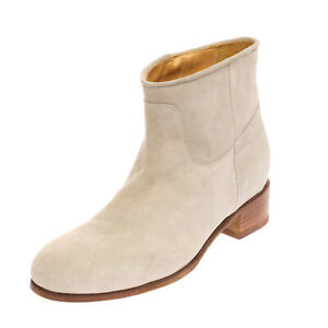 RRP €265 EL CAMPERO Leather Ankle Boots Size 41 UK 8 US 11 Worn Look HANDMADE