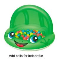 Bestway Inflatable Shaded Paddling Pool or Ball Pit .. Frog  or Ladybird