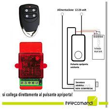 Apriporta per elettroserratura serratura elettrica porta blindata + telecomando