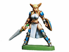 Aurora Model Game Miniatures 'Valkyrie' Unpainted Metal Figure Female FE-039