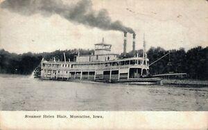 Steamer Helen Blair Muscatine Iowa 05.58