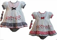 Polyester Spotted Dresses (0-24 Months) for Girls