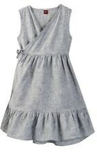 Girls Tea Collection Chambray Wrap Dress Size 3 NWT