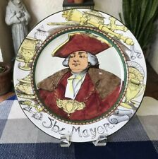 Vtg Royal Doulton D3348 The Mayor Plate England 1901-22 Pofessional Series