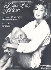 Piece Of My Heart - Faith Hill - 1993 Sheet Music