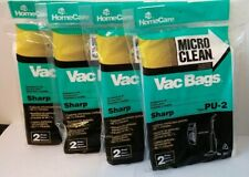 HomeCare Micro Clean Vacuum Vac Bags Sharp Type Pu-2 lot of 4 pkgs of 2 ea New
