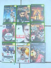 XBOX video game lot of 8 games& 1 ps2 new ,Knights Apprentice Dead to Rights +