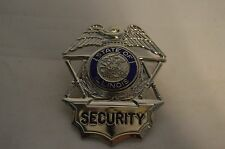 Obsolete Security Services Badge Hat Device State of Illinois Silver Eagle
