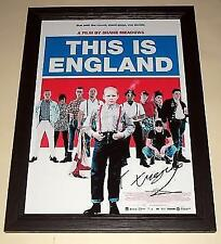 """THIS IS ENGLAND PP SIGNED & FRAMED 12""""X 8"""" POSTER SHAUN THOMAS TURGOOSE"""