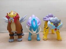 Pokemon Suicune Raikou Entei Tomy Soft Vinyl Figure Movable Poseable Set Big