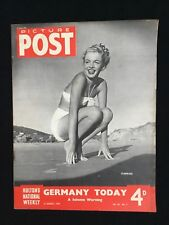 PICTURE POST Magazine 13 AUG 1949 Marilyn Monroe Norma Jeane CLOUDLESS Cover