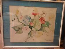 Signed watercolor  Rosita Hurka
